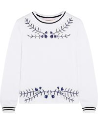 Tory Burch Lacey Embroidered Cotton Top - Lyst