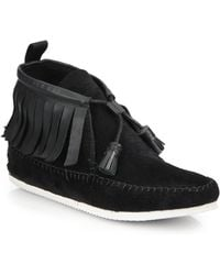 Rag & Bone Ghita Leather & Suede Moccasin Ankle Boots - Lyst