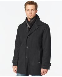 Calvin Klein | Big And Tall Melton Classic Car Coat | Lyst