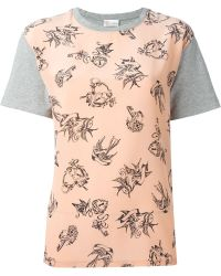 RED Valentino Love Doves Print T-Shirt - Lyst