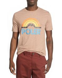 Poler Stuff - 'mountain Sunset' Graphic T-shirt - Lyst