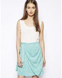 Dress Gallery - Nina Silk Mix Ruch Dress - Lyst