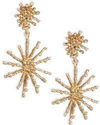 Oscar de la Renta | Starfish Clip-on Drop Earrings | Lyst