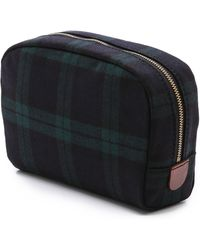Madewell - Cosmetic Pouch in Dark Plaid - Lyst