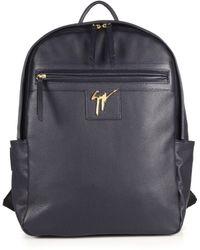 Giuseppe Zanotti Gladio Nero Leather Backpack blue - Lyst