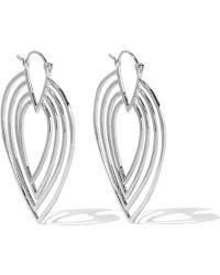 Noir Jewelry - Twiggy Silver-tone Hoop Earrings - Lyst