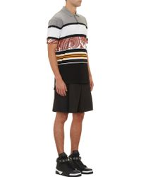 Givenchy Multicolor Mixed-pattern Polo - Lyst
