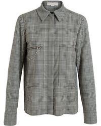 Stella McCartney Checked Zipper Detail Shirt - Lyst