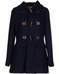 Prada Coat blue - Lyst