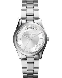 Michael Kors Colette Silver Stainless Steel Watch - Lyst