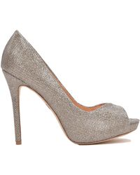 Badgley Mischka Kassidy-Ii Metallic Peep Toe Pump - Lyst