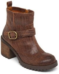 Lucky Brand Ninnah Leather Boots - Lyst