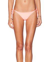 Pilyq Tie Teeny Bikini Bottom - Lyst