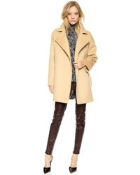 Giambattista Valli Wool Coat Camel - Lyst