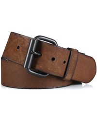 Polo Ralph Lauren Distressed Leather Wide Belt - Lyst
