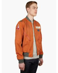 Polo Ralph Lauren Reversible Flight Jacket In Orange For
