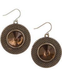 Sam Edelman Blue Stone Disc Drop Earrings - Lyst