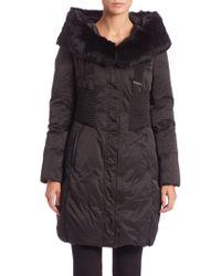 Elie Tahari | Nina Fur-trimmed Puffer Coat | Lyst