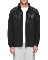 Theory 'Perf Camo' Perforated Hood Jacket - Lyst