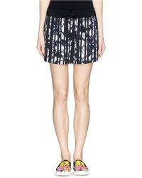 Alexander Wang Stripe Tie Dye Print Satin Shorts - Lyst