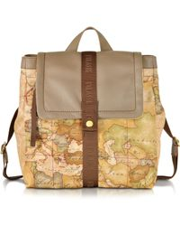 Alviero Martini 1A Classe - Geo Nylon Mud Brown Backpack - Lyst