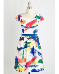 ModCloth | Made For Each Color Dress In Brushstrokes | Lyst