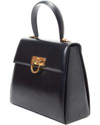 Ferragamo Black Two Way Bag - Lyst