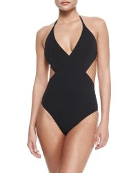 Tory Burch Solid Wrapped One-Piece Swimsuit - Lyst