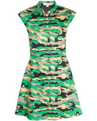 Carven Camouflage Twill Dress - Lyst