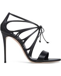 Casadei   Cut-Out Leather Lace-Up Sandals    Lyst