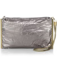 Lanvin Private Metallic Clutch - Lyst