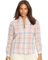 Ralph Lauren Plaid Cotton Shirt - Lyst