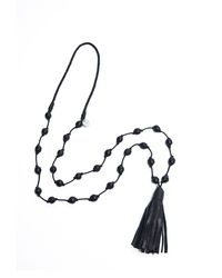 Day Birger Et Mikkelsen Black Leather Day Mekka Long Tasseled Necklace - Lyst
