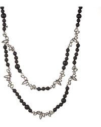 Alexis Bittar Liquid Crystal Two Strand Black Onyx And Lava Bead Necklace - Lyst