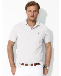 Polo Ralph Lauren Custom-Fit Mesh Polo - Lyst
