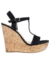 Charles By Charles David Alethia Platform Wedge Sandals - Lyst