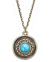 Pamela Love Solar Pendant in Brass - Lyst