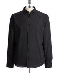 Michael Kors Micro Pindot Sports Shirt - Lyst