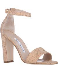 Manolo Blahnik Lauratopri Ankle-strap Sandals - Lyst