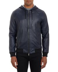 Marc By Marc Jacobs Leather Hoody - Lyst