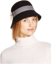 Bettina - Contrast Trim Cloche - Lyst