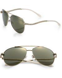 Roberto Cavalli Serpent Metal Sunglasses/Goldtone - Lyst