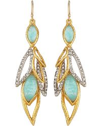 Alexis Bittar Gilded Muse Dore Dangling Leaf Wire Earrings - Lyst