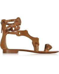 Emilio Pucci Terra Leather Sandal - Lyst