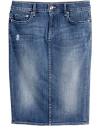 H&M + Denim Skirt - Lyst
