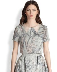 Honor Silk Tulleinsert Butterfly Top - Lyst