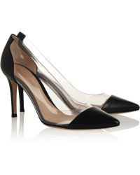 Gianvito Rossi Leather and Pvc Pumps - Lyst