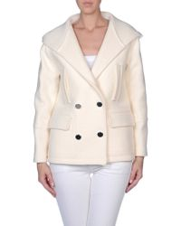 Golden Goose Deluxe Brand White Coat - Lyst