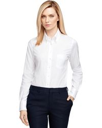 Brooks Brothers Chambray Shirt white - Lyst