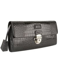 Osprey London - Lamaar Croc Leather Long Clutch Bag - Lyst